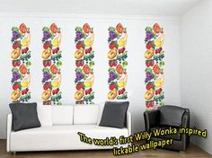 Image result for willy wonka and the chocolate factory flavored wallpaper pattern
