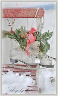 Time~Worn Ice Skates...