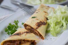 Pikante Palatschinken sind schnell gemacht und schmecken köstlich, probieren Sie das Rezept einmal aus!