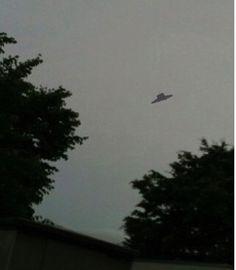 An indisputable UFO flying around.