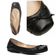 Marline Leather Ballet Flats So cute. Ballet inspired ballet flats. Literally. Size 7.5 fits true to size. Lightly worn. Black with black suede toe cap. Jessica Simpson Shoes Flats & Loafers