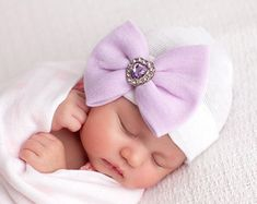 Newborn Hospital Hat Bow Baby Girl Hospital Hat Beanie with Bow – PINK, take home outfit hat, baby girl, newborn girl hat, pink bow hat Baby Girl Hats, New Baby Girls, Girl With Hat, Baby Bows, Baby Girl Newborn, The Babys, Newborn Hats, Take Home Outfit, Baby Sleep