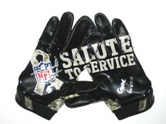 Michael Wilhoite San Francisco 49ers Game Worn & Signed Salute to Service Camo Nike Gloves