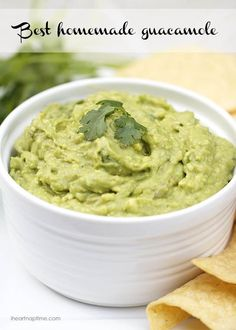 Best homemade guacamole recipe on iheartnaptime.com ... Easy and SO good!!
