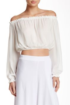 Flowy and light for summer!  Loving this Elizabeth and James off the shoulder Blouse