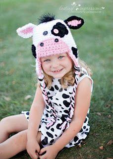 Crochet by Sheri: MY FIRST COW HAT--MooRific!