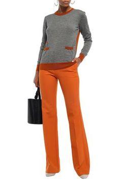 MARNI MARNI WOMAN TWO-TONE CASHMERE SWEATER GRAY. #marni #cloth
