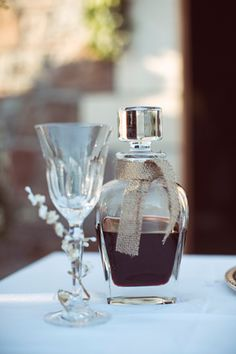 Greece Destinations, Greek Wedding, Crystal Wedding, Destination Weddings, Carafe, Wine Glass, Perfume Bottles, Romantic, Crystals