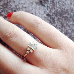 30 Small Real-Girl Engagement Rings With Big Impact: We all love a massive engagement ring, but sometimes a daintier option is preferred.