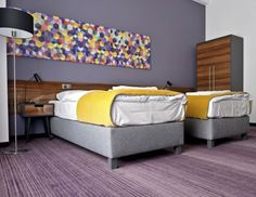 Hotel Tabaco  Lodz, Poland  PRODUCTS Custom Eco Evolution™ print carpet DESIGN FIRM EC-5 Architecture  2014 MARKET AWARD WINNER Shaw Hospitality Group Custom Tufted Carpet.