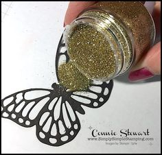 TEACH me that! Learn the Packing Tape Glitter Technique at www.SimplySimpleStamping.com - look for the April 13, 2017 blog post