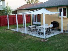 patio shade diy add columns around patio perimeter to attach sale shades to - Inexpensive Patio Shade Ideas