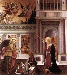 Benedetto Bonfigli, Annunciazione conservata alla Galleria Nazionale dell'Umbria, Perugia. La nostra puntata dedicata all'artista: http://www.finestresullarte.info/Puntate/2013/18-benedetto-bonfigli.php