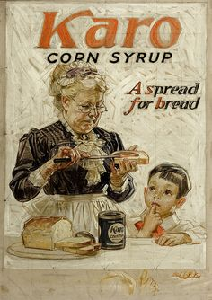 Karo Syrup Ad by JC Leyendecker pinned by heywardhouse.org