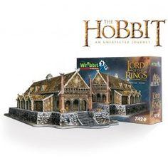 Faite vite la découverte du Puzzle 3D Le Hobbit ! http://www.bebegavroche.com/puzzle-3d-edoras-seigneur-des-anneaux.html
