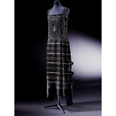 Beaded Silk Georgette Evening Dress- Coco Chanel- 1922