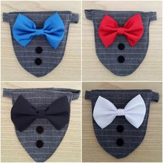 Custom Small Dog/Cat Wedding Bandana with a Choice of Bow Tie, Elengant Collar ideal for formal occasions