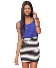 Fabulous Find of the Week: Forever 21 Solid & Striped Dress.