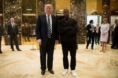 Less than 24 hours after Trump says he is too busy for a press conference, he meets with Kanye West.   I guess Kanye West isn't going to be asking tough questions or calling him on his BS.