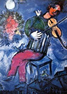 Le violoniste bleu, Marc Chagall