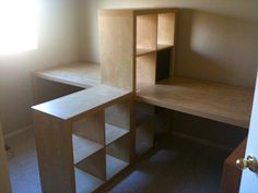 ikea expedit desk and bookcase cube display | New Office Furniture | Flickr - Photo Sharing!