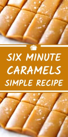 Six Minute Caramels Simple Recipe - My list of the best food recipes Easy Candy Recipes, Fudge Recipes, Baking Recipes, Sweet Recipes, Simple Snack Recipes, Carmel Recipe, Easy Caramel Recipe, Homemade Caramel Recipes, Caramel Dip