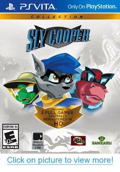 Sly Cooper Collection (Sony PlayStation Vita, for sale online Nintendo 3ds, Ps4, Ps Vita Games, Xbox, Newest Playstation, Got Game, Gamers, Mini Games, Marvel Vs
