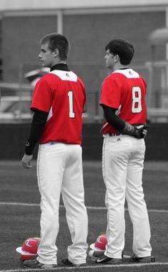 Highschool baseball edited in Photoshop