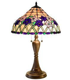 Tiffany Style Iris Table Lamp by Warehouse of Tiffany 2382+BB237