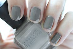 Deborah Lippmann Painted Desert Summer 2015 Swatch Desert Moon Gray Nail Polish