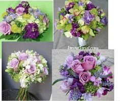 wedding flowers purple and gray - Google Search