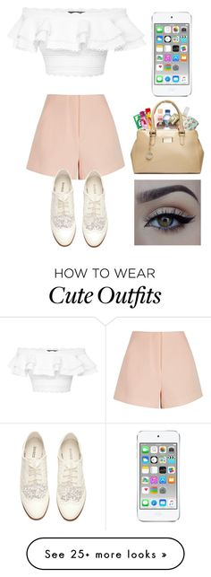 """Cute + Random Outfit"" by jasloves5sos on Polyvore featuring Alexander McQueen, Finders Keepers, Apple, H&M and xO Design"