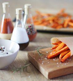 Süßkartoffelpommes - Knusprig aus dem Ofen