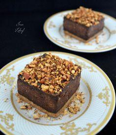 Flan chocolat-praliné façon tartelette  (vegan, sans sucres raffinés, sans matière grasse, IG bas, Riche en protéines).