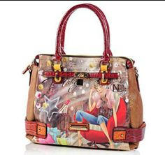 6c4f47c08 Buy Nicole Lee Kayla Blocked Fashionista Print Tote, Nicole Lee Handbags  and Tote from The Shopping Channel, Canada's home shopping network - Online  ...