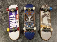 Vintage Tony Hawk, Bucky Lasek, The Firm Tech Deck Finger Skateboards Skate #TechDeck