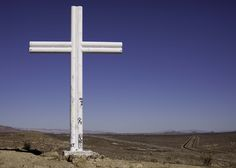 This was the hill on the north side of town, facing Mojave, Ca. The cross has been there for years.