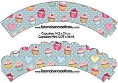 Saias Wrappers para Cupcakes Cupcakes: