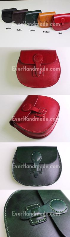Handmade Leather satchel bag shoulder bag black coffee yellow for #handmadebag