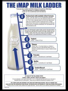 the map milk ladder Milk Ladder, Milk Allergy Baby, Milk Challenge, Milk Replacement, Baby Finger Foods, Baby Foods, Dairy Free Diet, Baby Eating, Milk Protein