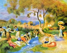 Pierre-Auguste Renoir - Washerwomen at Cagnes, 1912