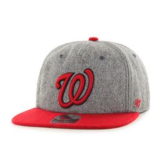 Washington Nationals Hempstead Captain Rf Gray 47 Brand Adjustable Hat 33dc8612eb1