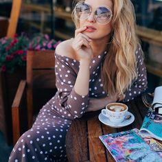 Shop Floryday for affordable Swimwear. Coffee Girl, Coffee Love, Coffee Break, Coffee Shop, Parisian Cafe, Ukraine Girls, Good Morning Coffee, Girl Photography Poses, Colorful Fashion