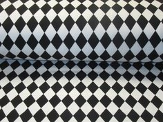 Jersey *Harlekin Muster* schwarz-weiß SwedenDesign von Nordlicht-Stoffe auf DaWanda.com