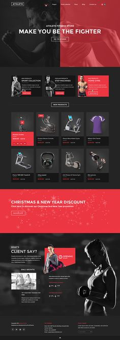 Athlete - Fitness, Gym and Sport HTML template on Behance