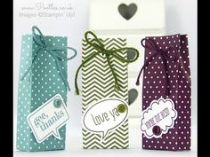Stampin' Up Demonstrator Pootles Shares her son Jacob's Tic Tac Bag Tutorial! - YouTube