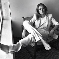 Day 50 - Anna Ewers in Paul Smith suit by Lachlan Bailey for Vogue UK May 2016