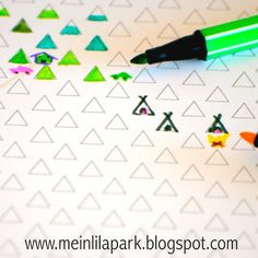 Free printable triangle coloring paper - ausdruckbares Geschenkpapier - freebie