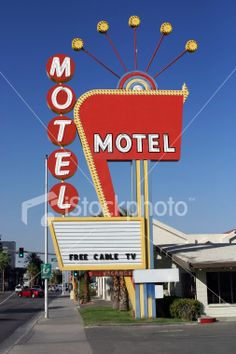 Vintage Las Vegas Motel Sign Royalty Free Stock Photo