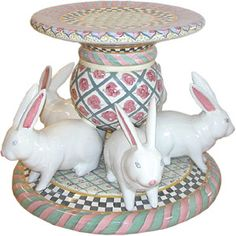 MacKenzie-Childs Bunny Table Base- no longer available